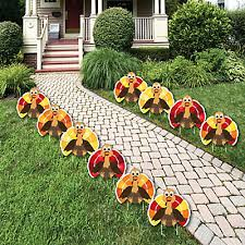 thanksgiving turkey turkey lawn decorations outdoor fall