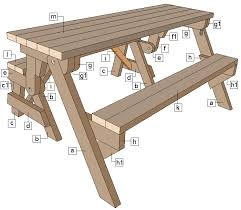 Folding Picnic Table Instructions by Folding Picnic Table Diy Out Of 2x4 Lumber Part Identification