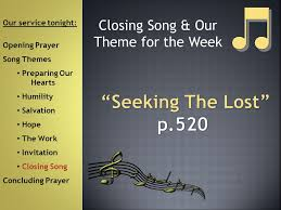Theme Song For Seeking Welcome To The Our Service Tonight Opening Prayer Song Themes