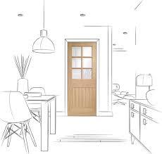 bevelled glass door suffolk 6 light internal oak door with clear bevelled glass