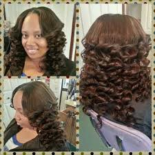 pretty hair styles with wand 14 inch partial sew in hand and wand curls hair styles