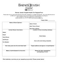 Barnes Jewish Hospital Mo Barnes Jewish Hospital Health Fair Fill Online Printable