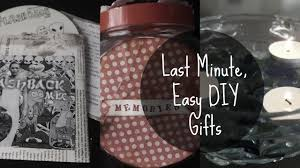 last minute easy diy gifts youtube