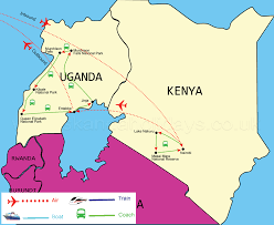 Map Of Uganda Africa by Best Of Kenya And Uganda Safari