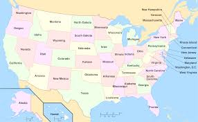 Map Of Us Capitals Us States And Capitals Map List Of Us States And Capitals United