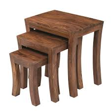 Side Tables For Bedroom by Carissa Solid Wood Nest Of Tables Set Of 3 Nesting Bedside Tables