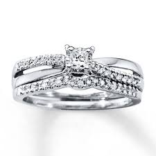 Kay Jewelers Wedding Rings Sets by Diamond Bridal Set 1 3 Carat Tw 10k White From Kay Jewelers
