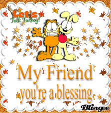 garfield thanksgiving blessing picture 76121918 blingee