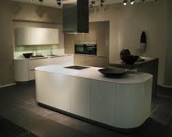 nice white curved hacker kitchen showroom on most superb great