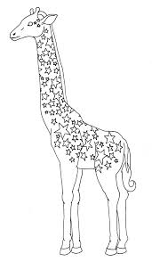 giraffe drawing outline gallery clip art library