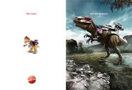 Print Advertisement Idea Design Mattel Print Advert By Ageisobar Dinosaur Ads Of The World