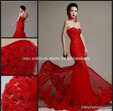 red and white mermaid wedding dresses 2016 2017 b2b fashion