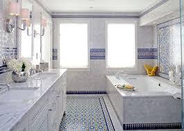 Blue Glass Tile Bathroom - blue moroccan mosaic tile bathroom in cape cod