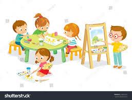 children drawing art class stock vector 519833791 shutterstock