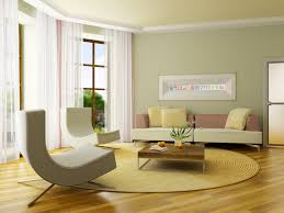 lovely green wall living room paint ideas with white corner shade