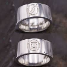 green lantern wedding ring geeky engagement rings nerdy wedding bands custommade