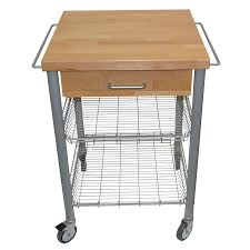 portable butcher block cart with drawer and shelves is769 skin