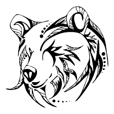 calm patterned bear head tattoo design tattooimages biz