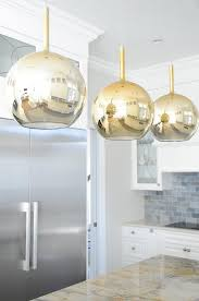 gold and blue kitchen island pendants design ideas