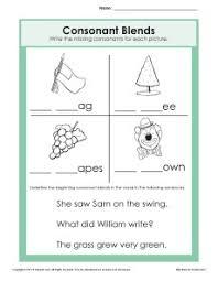 consonant blends worksheet phonics