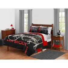 music themed queen comforter latitude rock and roll comforter set walmart com