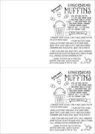 free printable christmas recipe card hand drawn free printable