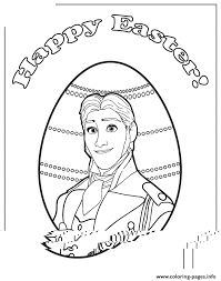 frozen prince hans easter colouring coloring pages printable