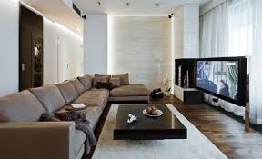 living room stunning neutral living room with big tv decorate