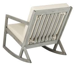 Wooden Rocking Chairs by Cushioned Rocking Chair Outdoor Rocker Safavieh Com