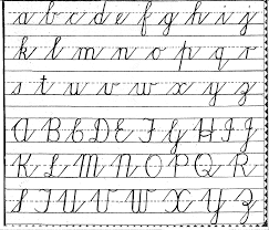 best solutions of cursive writing alphabet worksheets free with