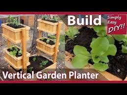 diy vertical garden planter youtube