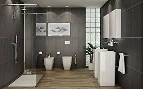 Modern Gray Tile Bathroom Modern Gray Floor Tile