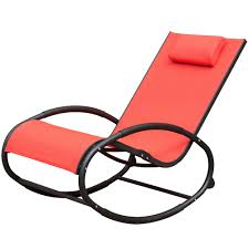 Zero Gravity Patio Lounge Chairs Orbital Zero Gravity Folding Rocking Patio Lounge Chair With Pillow