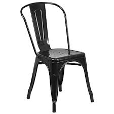 Black Metal Chairs Dining Flash Furniture Black Metal Indoor Outdoor Stackable