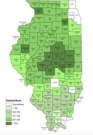 Iowa Illinois Map Farmland Values From 2017 Iowa Land Survey Nass Cash Rent County