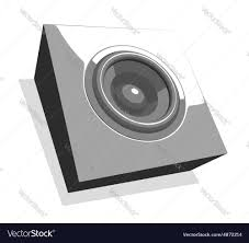 sound system party flyer in shades of gray vector image