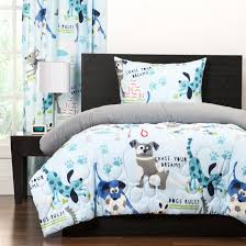 Kids Dog Print Puppy Bedding Twin Full Queen Comforter Set Silly