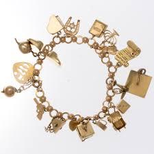 gold vintage bracelet images Vintage 14k yellow gold charm bracelet jpg