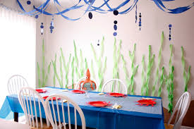 simple birthday decoration at home under the sea birthday party u2013 part two
