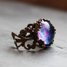 galaxy wedding rings violet nebula lacy ring wanderlust collection adjustable