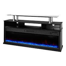 shop lifesmart 60 in w 5 100 btu black wood infrared quartz