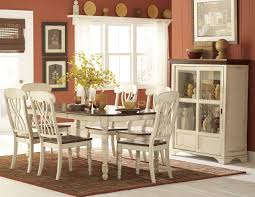 homelegance ohana 7pc dining table set in antique white warm