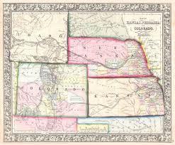Colorado Political Map by File 1864 Mitchell Map Of Colorado Kansas Nebraska