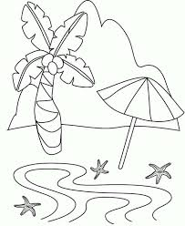 simple drawing tropical beach island coloring download