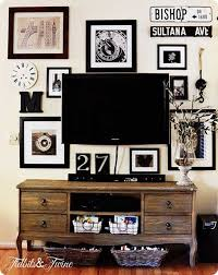 How To Design A Gallery Wall How To Create A Gallery Wall Around Your Tv Knock Off Decor