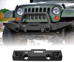 Rugged Ridge Jeep Bumpers Xhd Winch Mount Front Bumper 07 17 Jeep Wrangler By Rugged Ridge