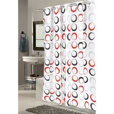 Circles Shower Curtain Ez On皰 Circles Polyester Shower Curtain In White Black