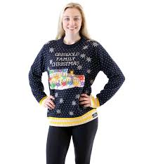 ugly christmas sweater with lights women s griswold family christmas ugly sweater led lights ugly