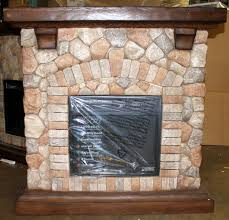 tequesta stone electric fireplace mantel package old world brown