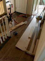 upstairs hallway 1 installing hardwood floors